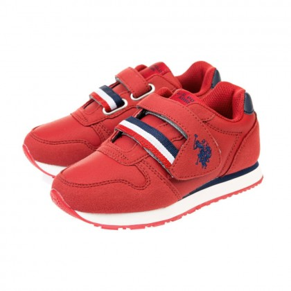 Παιδικά Sneakers U.S. Polo Assn. κόκκινα MAX 1 CLUB