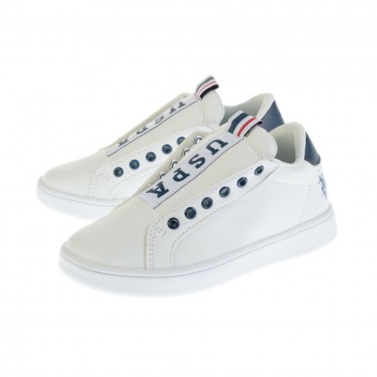 Παιδικά Sneakers U.S. Polo Assn. λευκά ASHER CLUB