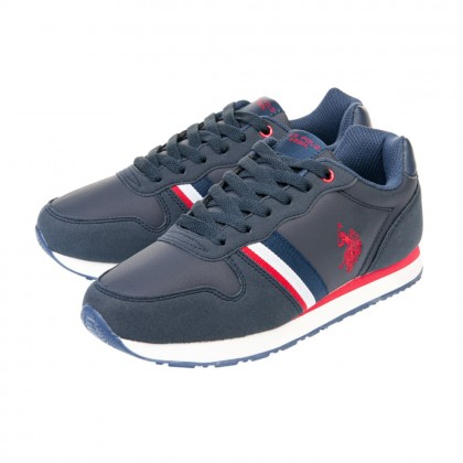 Παιδικά Sneakers U.S. Polo Assn. μπλε SAMUEL 1 CLUB