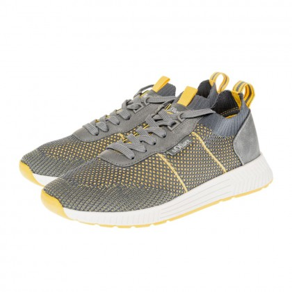 Sneakers S. Oliver γκρι-κίτρινο 5-13603-26 271