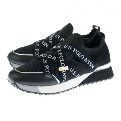 Sneakers U.S. Polo Assn. μαύρα BRIANNA