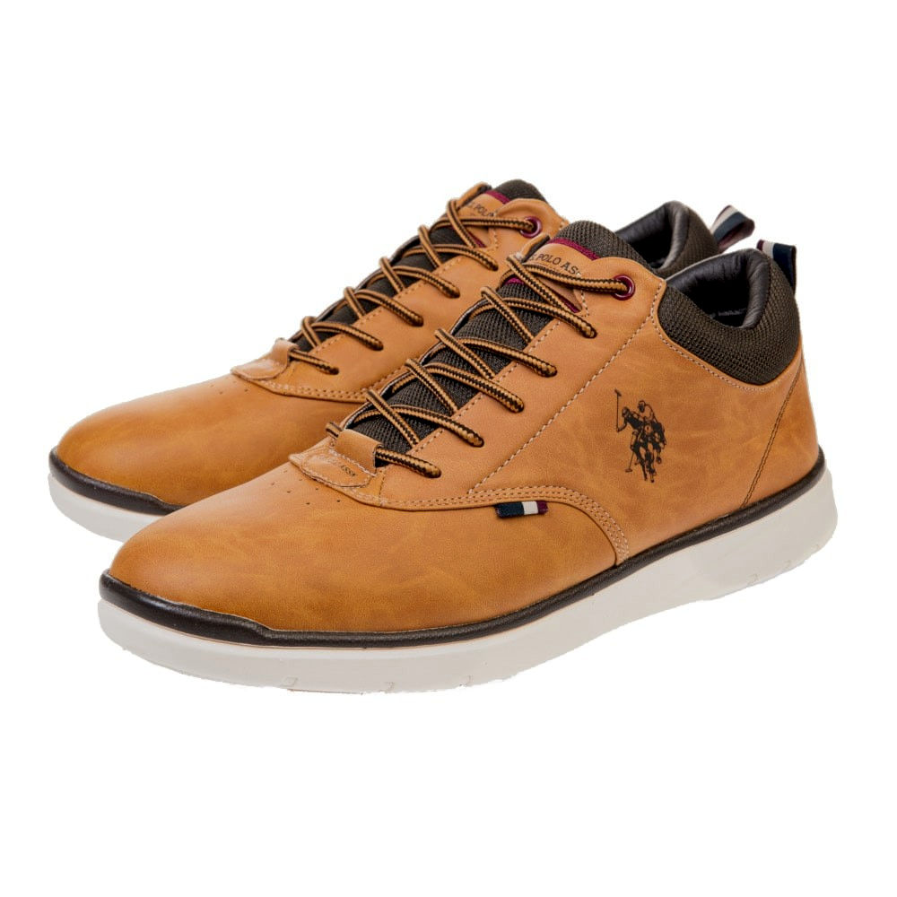 Sneakers U.S. Polo Assn. ανοιχτό ταμπά CREE 1 CLUB