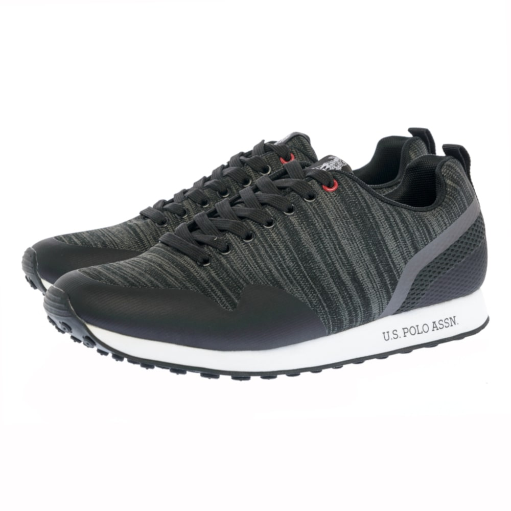 Sneakers U.S. Polo Assn. μαύρα LUIS KNITTED
